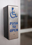 Accessible business. With handicap door access Royalty Free Stock Images