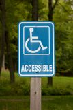 Accessible Disabled Parking Sign Stock Image