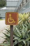 Accessible disabled parking sign Royalty Free Stock Photos