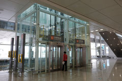 Accessible elevator of t4 terminal, amoy city, china Stock Photo
