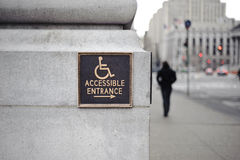 Accessible entrance sign Stock Photography