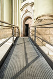 Accessible path to church Stock Photos