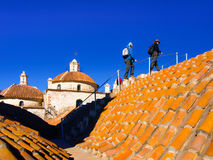 Accessible rooftop of San Francisco Convent, Potosi, Bolivia, South America. Stock Photography