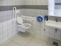 Accessible Toilet. For People With Physical Disabilities royalty free stock photos