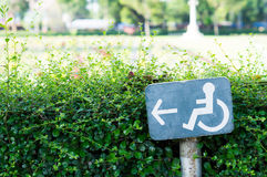 Accessible Way Sign Stock Photography