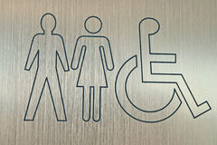 Accessible wc sign Royalty Free Stock Photos