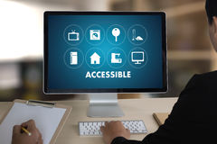 Accessible Welcome Greeting Welcoming Approachable Access Enter Royalty Free Stock Photography