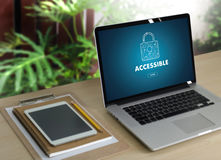 Accessible Welcome Greeting Welcoming Approachable Access Enter Royalty Free Stock Images