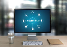 Accessible Welcome Greeting Welcoming Approachable Access Enter. Available Concept Royalty Free Stock Images