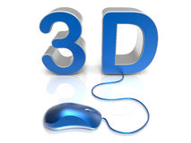 Accessing 3D content concept Royalty Free Stock Image