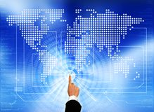 Free Accessing The Global Network Royalty Free Stock Photo - 20106115