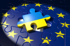 Accession negotiations between the EU and Ukraine Stock Images