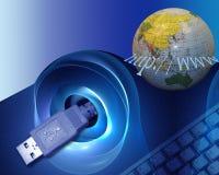 Accesso al mondo Immagine Stock