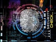 Accesso dell'impronta digitale Fotografia Stock Libera da Diritti