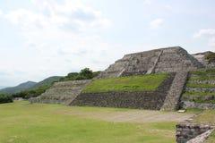 Accesso della piramide di Xochicalco all'acropoli 2 fotografia stock