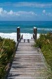 Accesso della spiaggia Immagine Stock