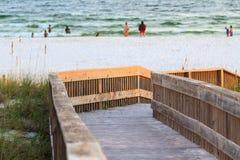Accesso della spiaggia di Florida Fotografia Stock
