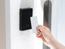 Accesso di Keycard Immagini Stock