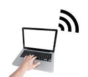 Accesso di Wifi Fotografia Stock Libera da Diritti