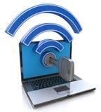 Accesso di Wifi Concetto della rete wireless Fotografia Stock