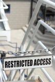 Accesso limitato immagini stock libere da diritti