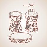 Accessoire de Bath illustration stock