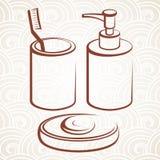 Accessoire de Bath illustration libre de droits