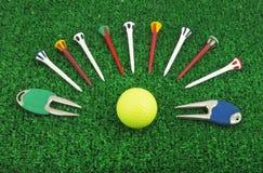 Accessoire réglé de golf Images libres de droits