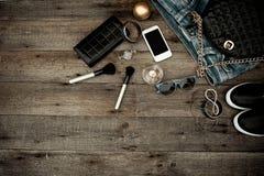 Accessoires à la mode femelles photographie stock