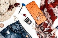 Accessoires à la mode lumineux pour des femmes photos stock