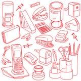 Accessoires au bureau Image stock