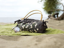 Accessoires at the beach Stock Photography
