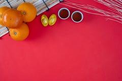 Accessoires chinois heureux chinois de nouvelle année de décorations de festival de nouvelle année photographie stock