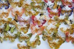 Accessoires colorés de papillons Photos stock