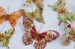 Accessoires colorés de papillons Image libre de droits
