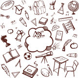 Accessoires d'école Images libres de droits