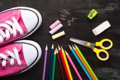 Accessoires d'école et de bureau Image libre de droits