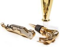 Accessoires d'or de vin Photos libres de droits