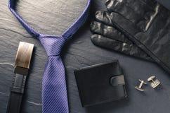 Accessoires d'homme d'affaires Photo stock