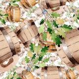 Accessoires d'illustration de sauna et de station thermale Modèle sans couture de fond images stock