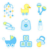 Accessoires de bébé Photographie stock
