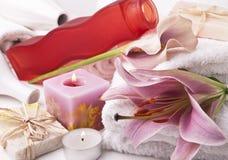 Accessoires de Bath Photo stock