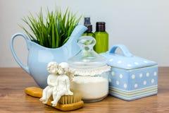 Accessoires de Bath Éléments d'hygiène personnelle Images stock