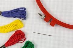 Accessoires de broderie Image stock