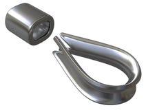 Accessoires de câble métallique Image stock