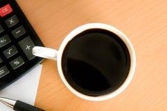 Accessoires de café et d'affaires Photos stock