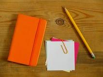 Accessoires de carnet et de bureau Photographie stock libre de droits