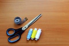 Accessoires de couture Photographie stock libre de droits