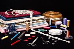Accessoires de couture Photographie stock
