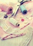 Accessoires de couture Photo stock